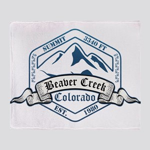 Beaver Creek Ski Resort Colorado Throw Blanket