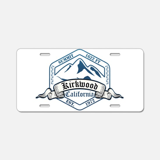 Kirkwood Ski Resort California Aluminum License Pl