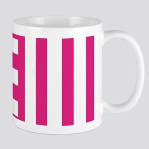 Hot Pink Teeth Stripes Mugs