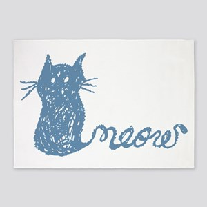 adorable hand drawn cat with tail that says meow 5