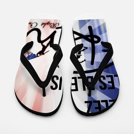 RightOn Les Bleus Flip Flops
