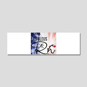 RightOn Les Bleus Car Magnet 10 x 3