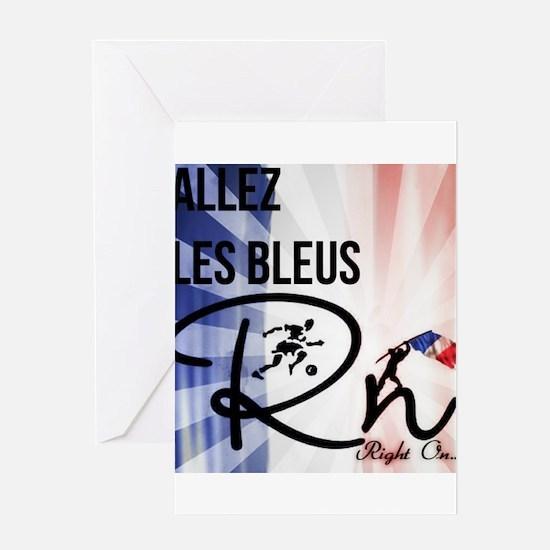RightOn Les Bleus Greeting Cards