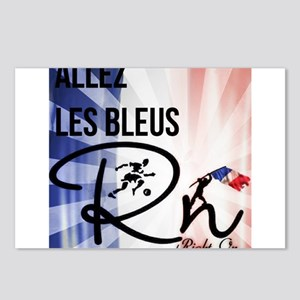 RightOn Les Bleus Postcards (Package of 8)