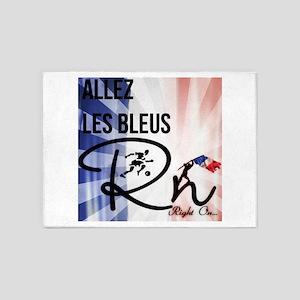 RightOn Les Bleus 5'x7'Area Rug