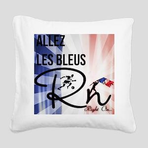 RightOn Les Bleus Square Canvas Pillow