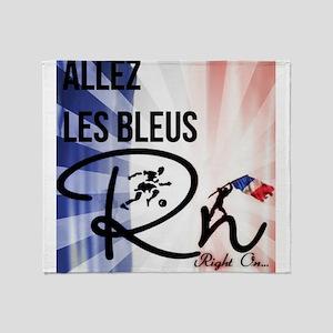 RightOn Les Bleus Throw Blanket