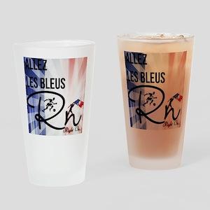RightOn Les Bleus Drinking Glass
