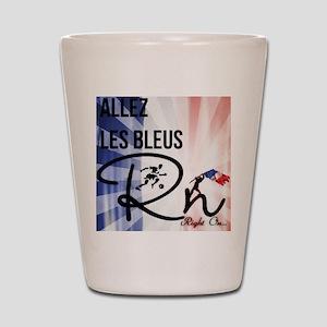 RightOn Les Bleus Shot Glass