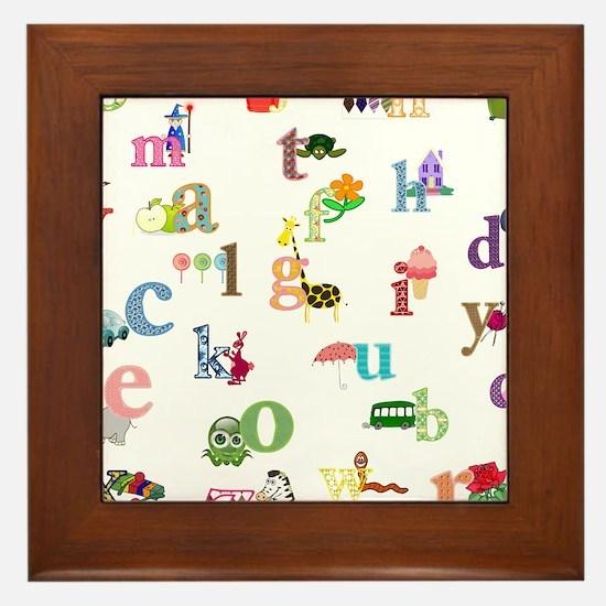 I learn the alphabet Framed Tile