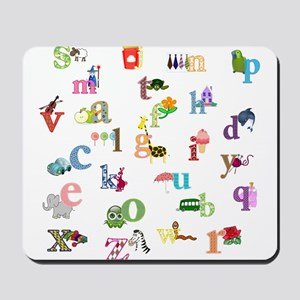 I learn the alphabet Mousepad