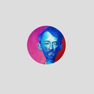 """Blue Thom Yorke"" Mini Button"