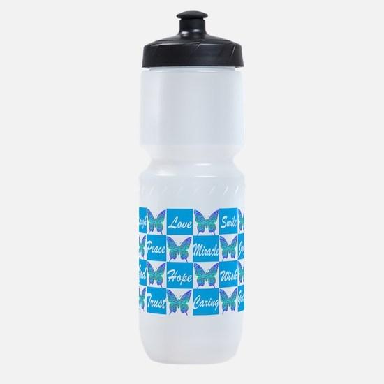 BLUE BUTTERFLY Sports Bottle