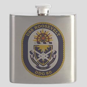 USS Roosevelt DDG-80 Flask