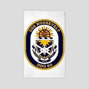 USS Roosevelt DDG-80 3'x5' Area Rug