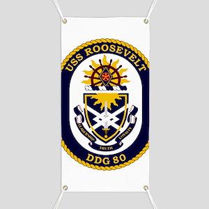 USS Roosevelt DDG-80 Banner