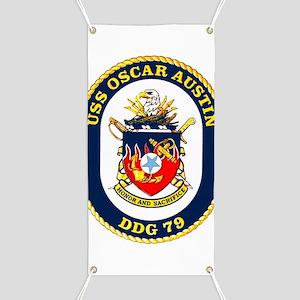 DDG 79 USS Oscar Austin Banner