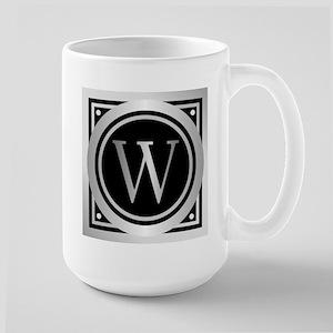 Deco Monogram W Mugs