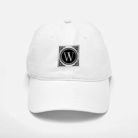 Deco Monogram W Baseball Baseball Baseball Cap