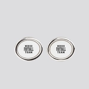 Mexico Football Team Oval Cufflinks