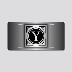 Deco Monogram Y Aluminum License Plate