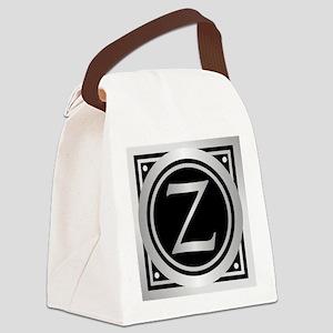 Deco Monogram Z Canvas Lunch Bag