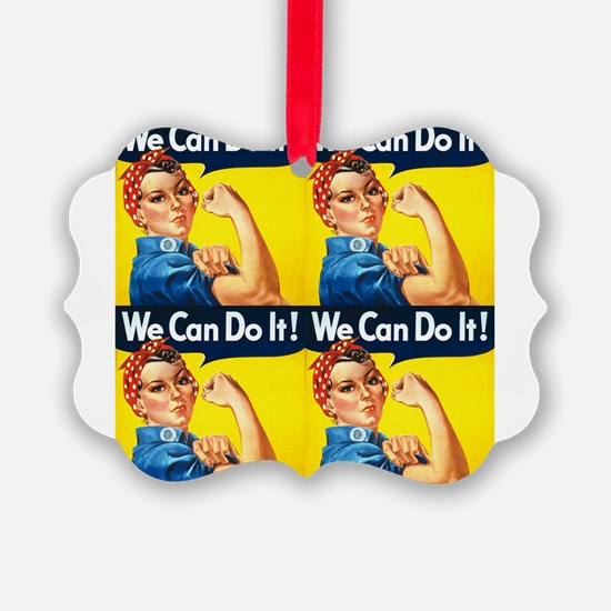 Rosie the Riveter We Can Do It Ornament