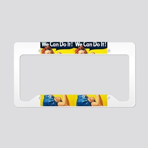 Rosie the Riveter We Can Do It License Plate Holde