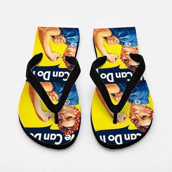 Rosie the Riveter We Can Do It Flip Flops