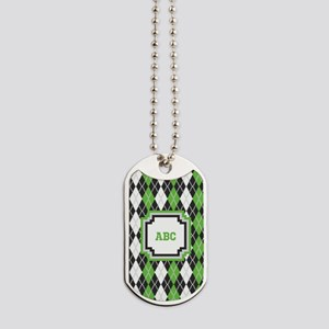 Retro Argyle Dog Tags