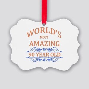 World's Most Amazing 90 Year Old Picture Ornament