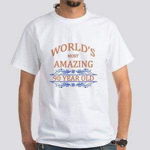 World's Most Amazing 90 Year Old White T-Shirt