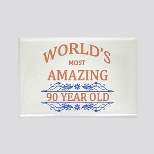 World's Most Amazing 90 Year Old Rectangle Magnet