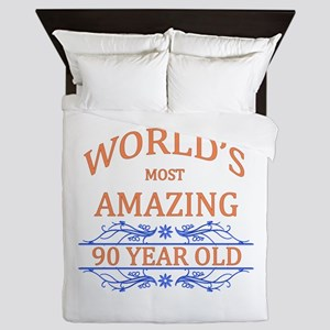 World's Most Amazing 90 Year Old Queen Duvet