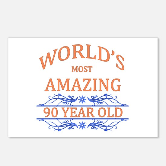 World's Most Amazing 90 Y Postcards (Package of 8)
