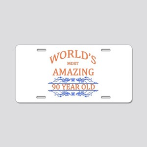 World's Most Amazing 90 Yea Aluminum License Plate