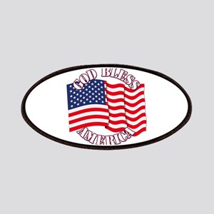 God Bless America With USA Flag Patches