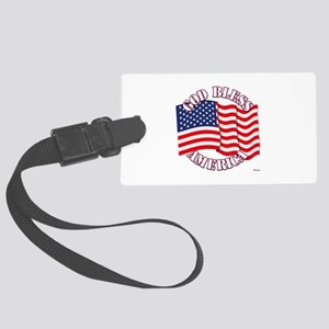 God Bless America With USA Flag Luggage Tag