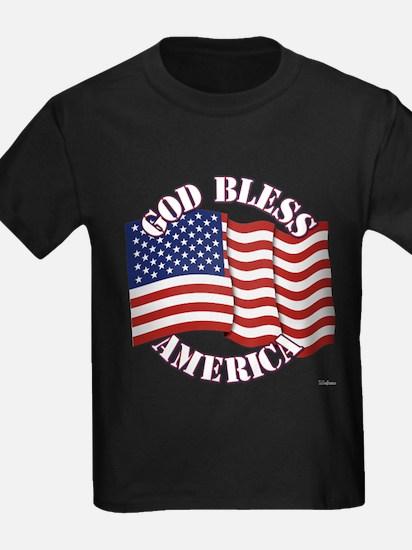 God Bless America With USA Flag T-Shirt