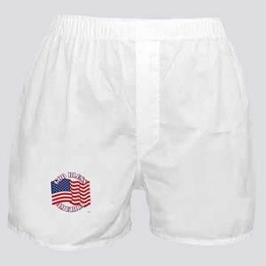 God Bless America With USA Flag Boxer Shorts