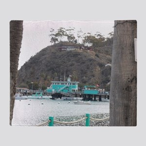 Catalina Pier Coast Throw Blanket