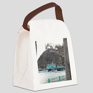 Catalina Pier Coast Canvas Lunch Bag
