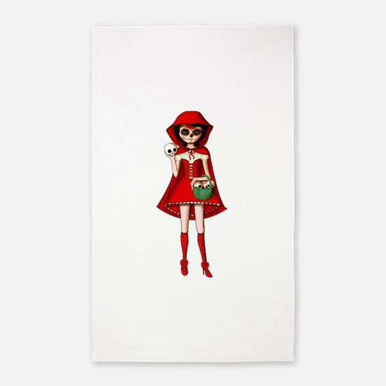 Red Riding Hood of Day of The Dead 3'x5' Area Rug