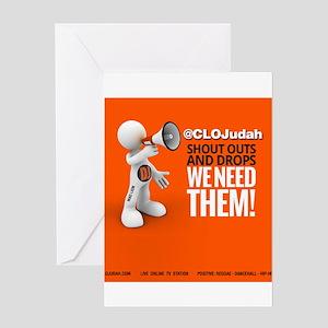 CLOJudah ShoutOuts Drops Greeting Cards