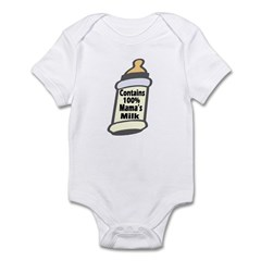 Contains 100% Mama's Milk Infant Bodysuit / Onesie