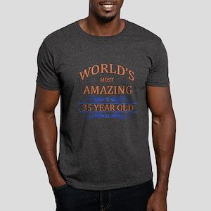 World's Most Amazing 35 Year Old Dark T-Shirt