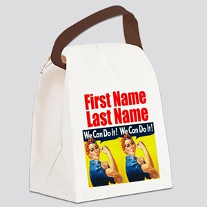 Rosie the Riveter We Can Do It Canvas Lunch Bag