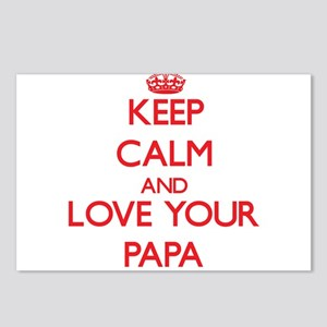 Keep Calm and Love your Papa Postcards (Package of