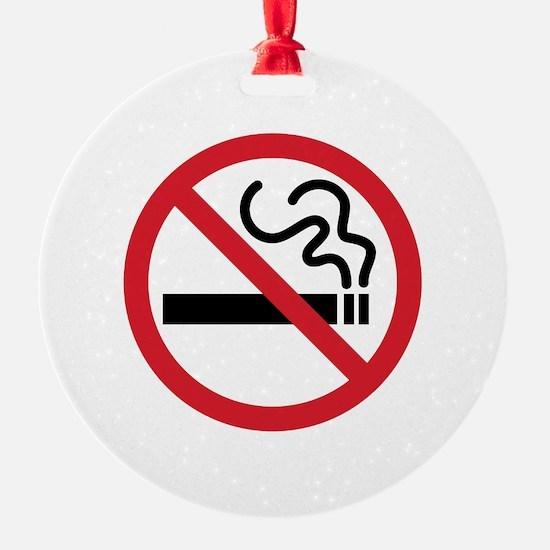 No Smoking Icon Ornament