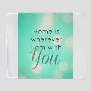 Home With You Throw Blanket